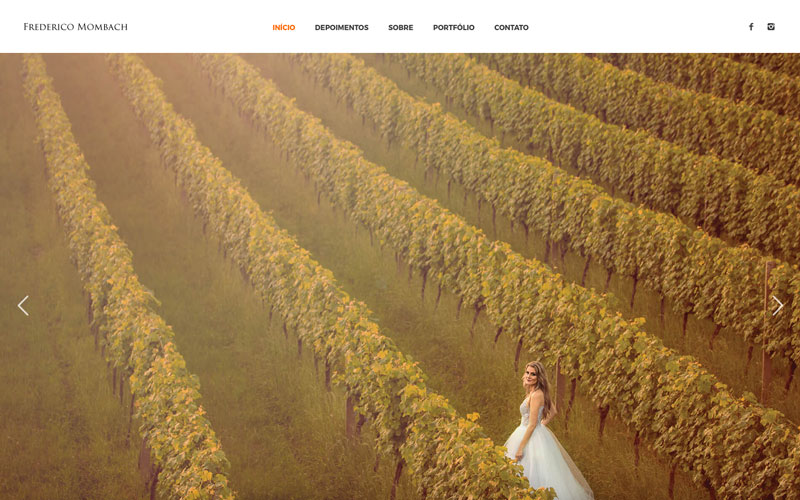 Site do Fotógrafo Frederico Mombach